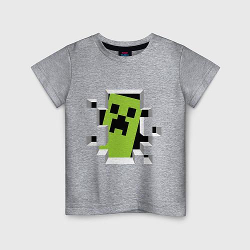 Детская футболка Crash Minecraft / Меланж – фото 1