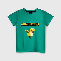 Футболка хлопковая детская Minecraft Duck цвета зеленый — фото 1