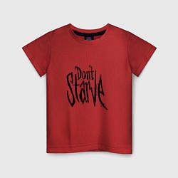 Футболка хлопковая детская Don't Starve цвета красный — фото 1