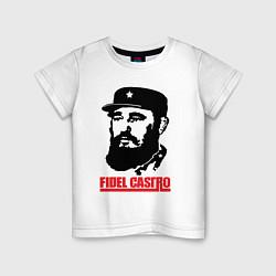 Футболка хлопковая детская Fidel Castro цвета белый — фото 1