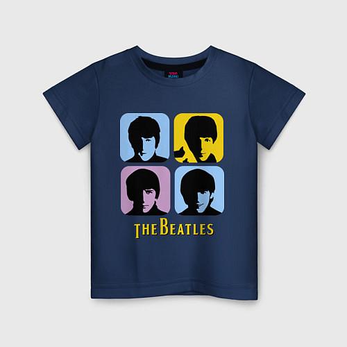 Детская футболка The Beatles: pop-art / Тёмно-синий – фото 1