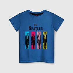 Футболка хлопковая детская Walking Beatles цвета синий — фото 1