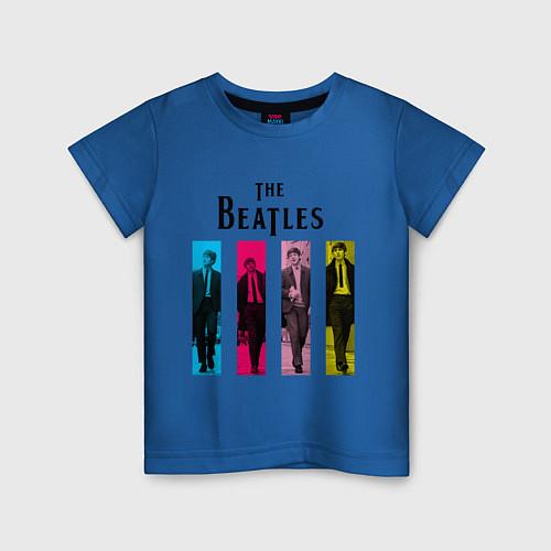 Детская футболка Walking Beatles / Синий – фото 1