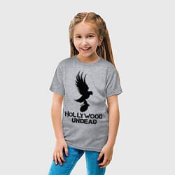 Футболка хлопковая детская Hollywood Undead цвета меланж — фото 2