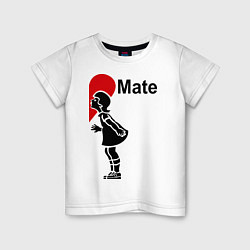 Футболка хлопковая детская Soul Mate: Girl цвета белый — фото 1