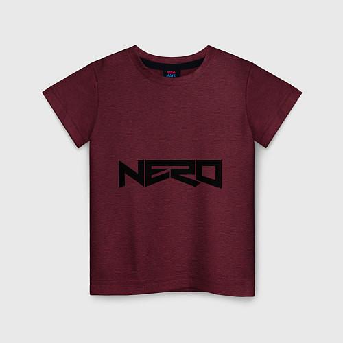 Детская футболка Nero / Меланж-бордовый – фото 1
