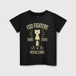 Футболка хлопковая детская Foo Fighters: Patience & Grace цвета черный — фото 1