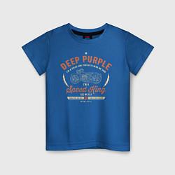 Футболка хлопковая детская Deep Purple: Speed King цвета синий — фото 1