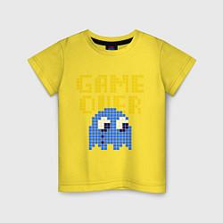 Футболка хлопковая детская Pac-Man: Game over цвета желтый — фото 1