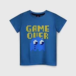 Футболка хлопковая детская Pac-Man: Game over цвета синий — фото 1
