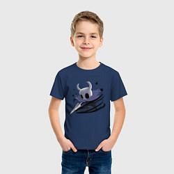 Футболка хлопковая детская Hollow Knight цвета тёмно-синий — фото 2