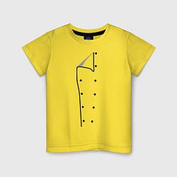 Футболка хлопковая детская Шеф повар цвета желтый — фото 1