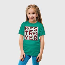 Футболка хлопковая детская Drax цвета зеленый — фото 2