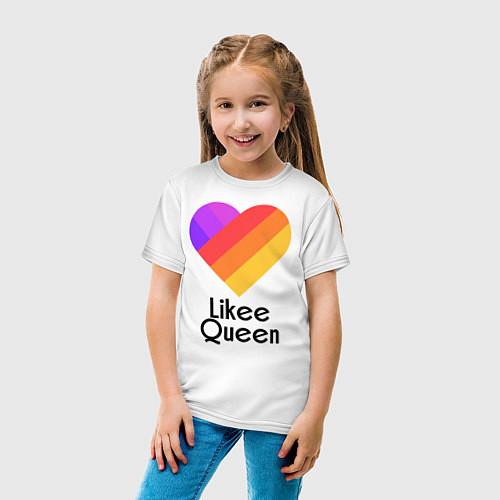 Детская футболка Likee Queen / Белый – фото 5