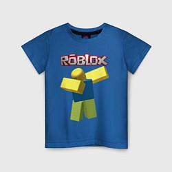 Футболка хлопковая детская Roblox Dab цвета синий — фото 1