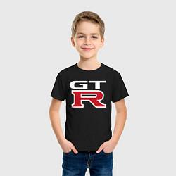 Футболка хлопковая детская NISSAN GTR цвета черный — фото 2