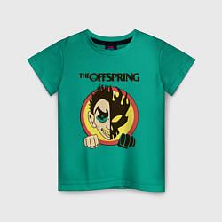 Футболка хлопковая детская The Offspring цвета зеленый — фото 1