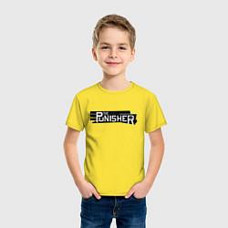 Футболка хлопковая детская The Punisher цвета желтый — фото 2