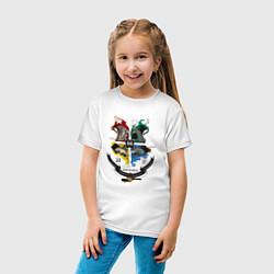 Футболка хлопковая детская Гарри Поттер цвета белый — фото 2