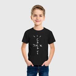 Футболка хлопковая детская CACTUS JACK цвета черный — фото 2