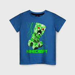 Футболка хлопковая детская MINECRAFT CREEPER цвета синий — фото 1