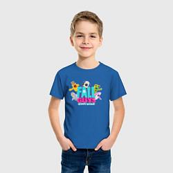 Футболка хлопковая детская FALL GUYS 2 СТОРОНЫ цвета синий — фото 2