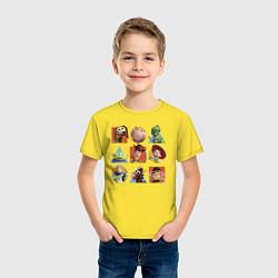 Футболка хлопковая детская Toy Story цвета желтый — фото 2
