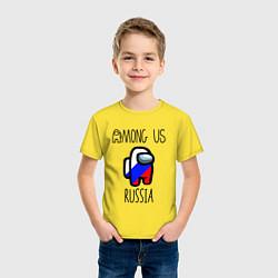 Детская хлопковая футболка с принтом AMONG US, цвет: желтый, артикул: 10273399700014 — фото 2