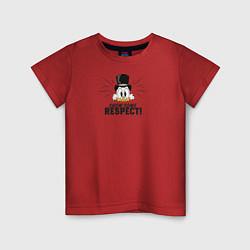Футболка хлопковая детская Show Some Respect! цвета красный — фото 1