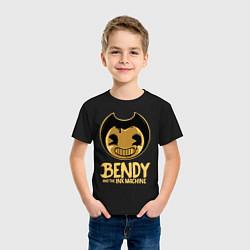 Футболка хлопковая детская Bendy And The Ink Machine цвета черный — фото 2