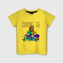 Футболка хлопковая детская Among Us Z цвета желтый — фото 1