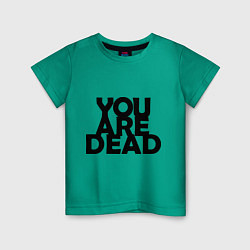 Футболка хлопковая детская DayZ: You are Dead цвета зеленый — фото 1