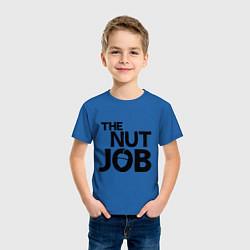 Футболка хлопковая детская The nut job цвета синий — фото 2
