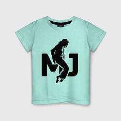 Футболка хлопковая детская MJ Music цвета мятный — фото 1
