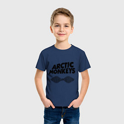 Футболка хлопковая детская Arctic Monkeys цвета тёмно-синий — фото 2