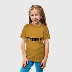 Футболка хлопковая детская DayZ: Im friendly цвета горчичный — фото 2