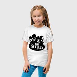 Футболка хлопковая детская The Beatles Band цвета белый — фото 2