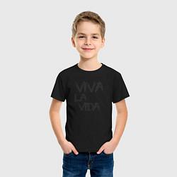 Футболка хлопковая детская Viva La Vida цвета черный — фото 2