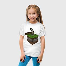 Футболка хлопковая детская Minecraft Grabber цвета белый — фото 2