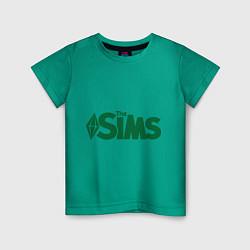 Футболка хлопковая детская Sims цвета зеленый — фото 1