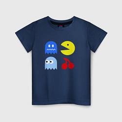 Футболка хлопковая детская Pac-Man Pack цвета тёмно-синий — фото 1