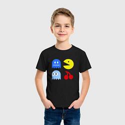Футболка хлопковая детская Pac-Man Pack цвета черный — фото 2