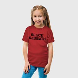 Футболка хлопковая детская Black Sabbath цвета красный — фото 2
