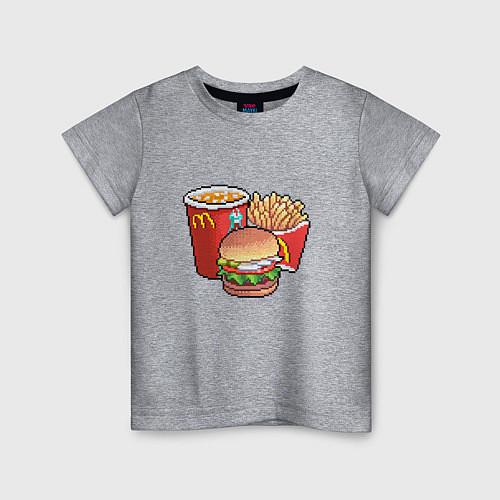 Детская футболка Фастфуд / Меланж – фото 1