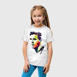 Футболка хлопковая детская Lionel Messi: fun-art цвета белый — фото 2