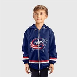 Ветровка с капюшоном детская Columbus Blue Jackets цвета 3D-белый — фото 2