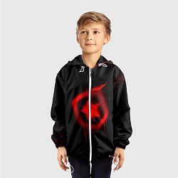 Ветровка с капюшоном детская Gambit: Black collection цвета 3D-белый — фото 2