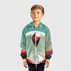 Ветровка с капюшоном детская No Mans Sky цвета 3D-белый — фото 2