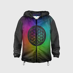 Ветровка с капюшоном детская Coldplay Colour цвета 3D-черный — фото 1