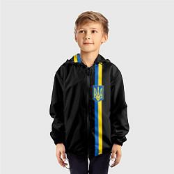 Ветровка с капюшоном детская Украина цвета 3D-черный — фото 2